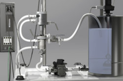 Industrial Sonomechanics BSP-1200 bench-scale ultrasonic processor for the production of cannabis nanoemulsions